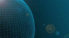 Abstract line and polygonal sphere background Stock Footage