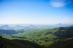 Mountain ranges, San Luis Obispo, California, United States of America - stock photo