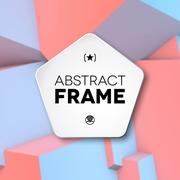 Abstract frame with rose quartz and serenity cubes - stock illustration