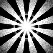 Vintage dotwork sun rays, sunburst or explosion - stock illustration