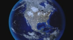 Earth Zoom Out from USA Stock Footage