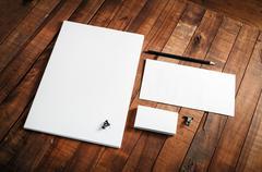 Blank stationery template - stock photo
