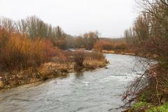 River Bend in Winter Stock Photos