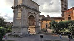 Roman Forum of Rome Stock Footage