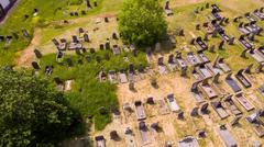Aerial Graveyard Stock Photos