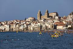 Mediterranean sea, Cefalu, Palermo, Sicily, Italy Stock Photos