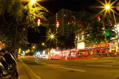 Road, long exposure, Honolulu, Hawaii, USA Kuvituskuvat