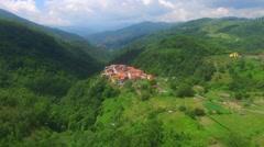 Castello village in Liguria Stock Footage