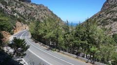 Nature, splendid Crete view, road to Heraklion. Stock Footage