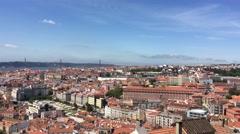 City view from Miradouro da Senhora do Monte Stock Footage
