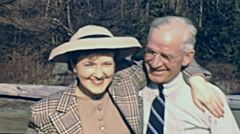 USA 1941: woman with her old father Stock Footage