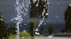 Abstract water splash tip of a fountain Stock Footage