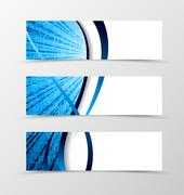 Set of banner spectrum design - stock illustration