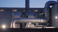 Chimneys of Power Plant. Air Pollution Concept Stock Footage