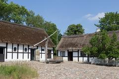 Sweep well in courtyard of old danish farmhouse Stock Photos
