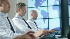 Team of IT Professionals Working at the Computers in Bright Office. Stock Footage