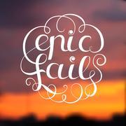Epic Fail Illustration - stock illustration