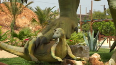 Park of dinosaurs. Greece. Stock Footage