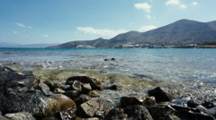 Nature of greece,amazing view of crete, sea view. Stock Footage
