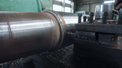 Sharpen shaft Shipyard Stock Footage