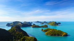 4K Timelapse of Angthong national marine park, koh Samui, Thailand - stock footage