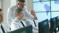 Team of Professionals Working at the Computers in Bright Office. Stock Footage