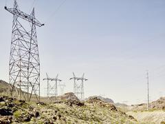 View of pylons at Hoover Dam, Nevada, USA Kuvituskuvat