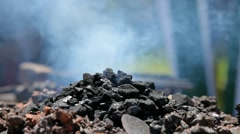 Inflames coal forge Stock Footage