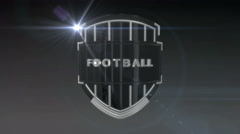 Football - Chrome Stock Footage