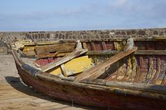 Derelict Wooden Boat Stock Photos