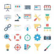 Web Design and Development Vector Icons Stock Illustration