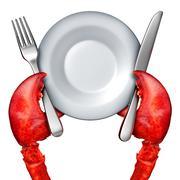 Lobster Dinner Concept Stock Illustration