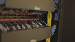 Back of Wireless Network Server (Wires) Stock Footage