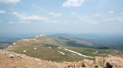 Aerial view from the top of Mount Evans. Stock Footage
