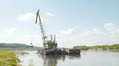 River dredging works Stock Footage
