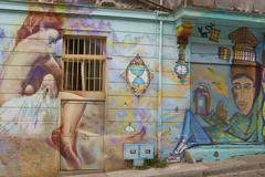 VALPARAISO, CHILE - FEBRUARY 04, 2016: Colourful Streets - stock photo