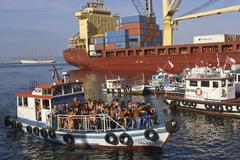 VALPARAISO, CHILE - MARCH 01, 2016: Sightseeing Boat - stock photo