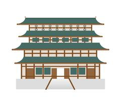 Traditional architecture icon. Japan culture. Vector graphic Stock Illustration