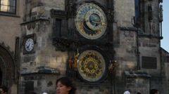 Old Town Hall of Prague with the Astronomical Clock. Stock Footage
