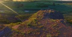 Dawn on the  prairie. Azov, Ukraine - stock footage