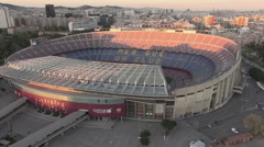 Aerial Camp Nou general 1 Stock Footage