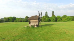 Wooden Windmill. Open-Air Museum Pirogovo Stock Footage