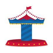 carousel icon. Circus and carnival design. Vector graphic - stock illustration
