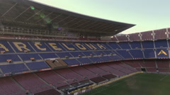 Aerial Camp Nou grandstands 8 Stock Footage
