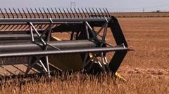 Combine harvester. Wheat harvest Stock Footage