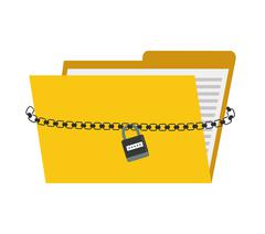 File icon. Security system design. Vector graphic Stock Illustration