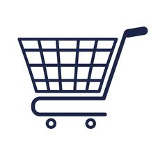 Shopping cart icon. Shopping design. Vector graphic Stock Illustration