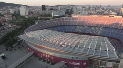 Aerial Camp Nou general 2 Stock Footage