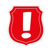 shield icon. Security and warning design. vector graphic - stock illustration