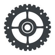 Single gear icon Stock Illustration